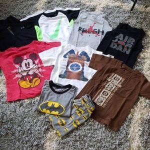 Random bundle of 4T boys clothes shirts